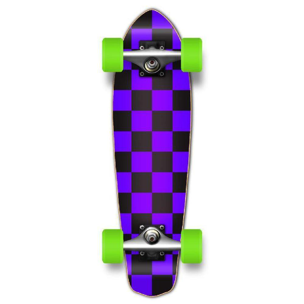Punked Micro Cruiser Complete - Checker Purple - Longboards USA