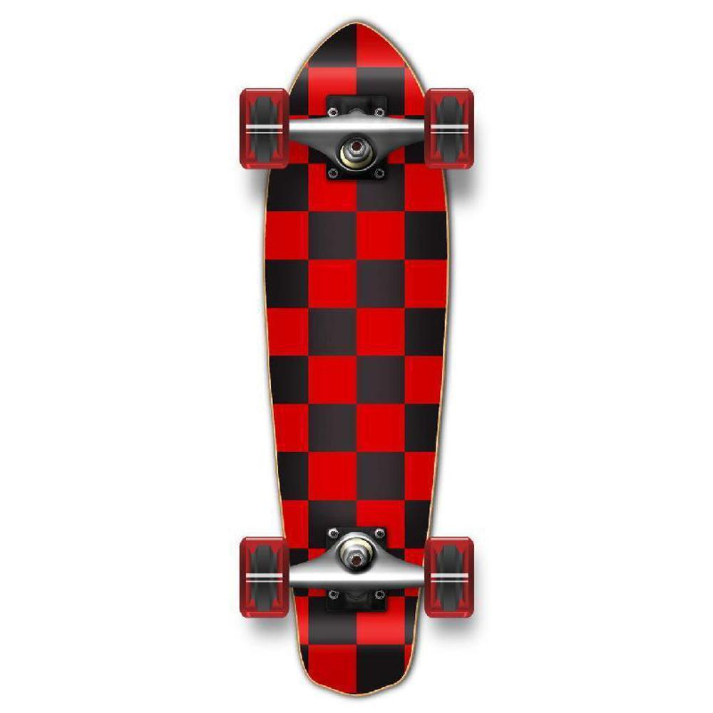 Punked Micro Cruiser Complete - Checker Red - Longboards USA