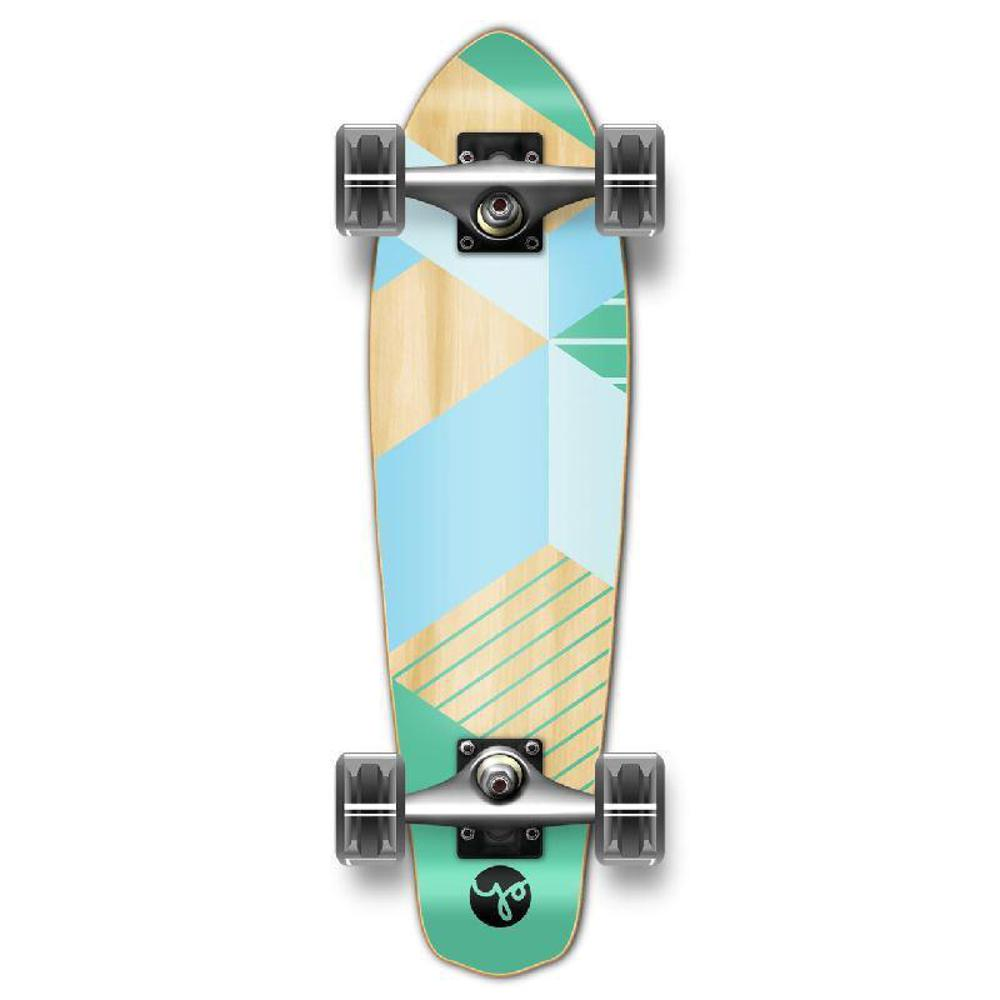 Punked Micro Cruiser Complete - Geometric Series - Green - Longboards USA