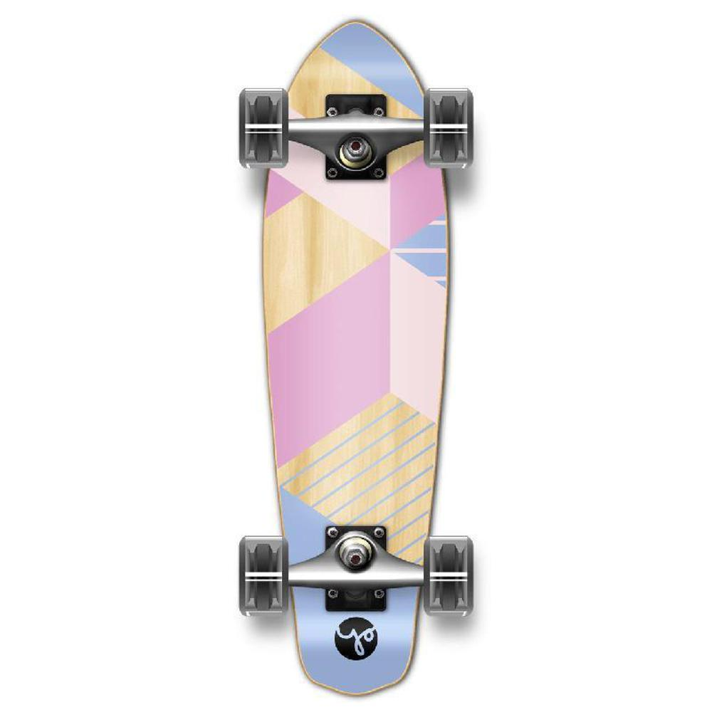 Punked Micro Cruiser Complete - Geometric Series - Purple - Longboards USA