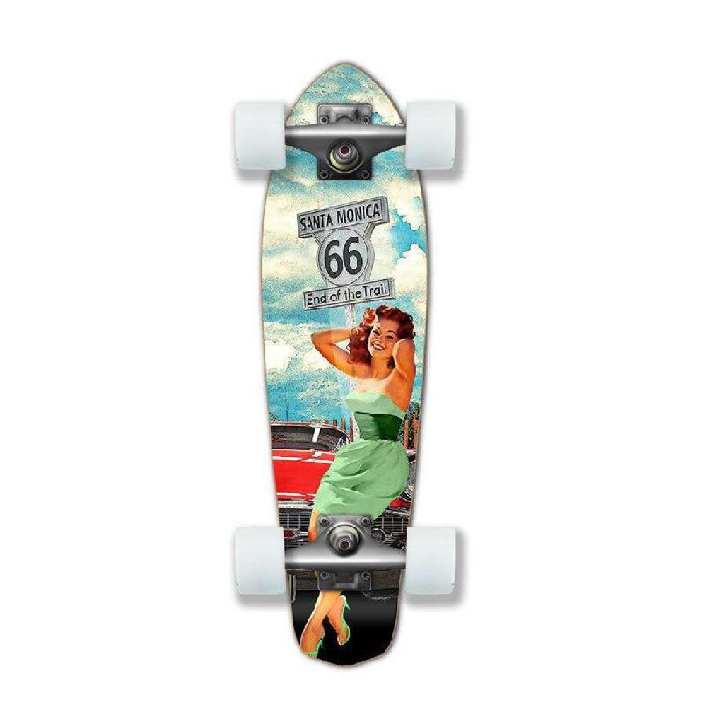 Punked Micro Cruiser Complete - Route 66 Series - RTE-66 - Longboards USA
