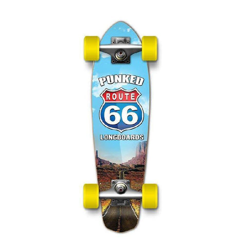 Punked Micro Cruiser Complete - Route 66 Series - The Run - Longboards USA
