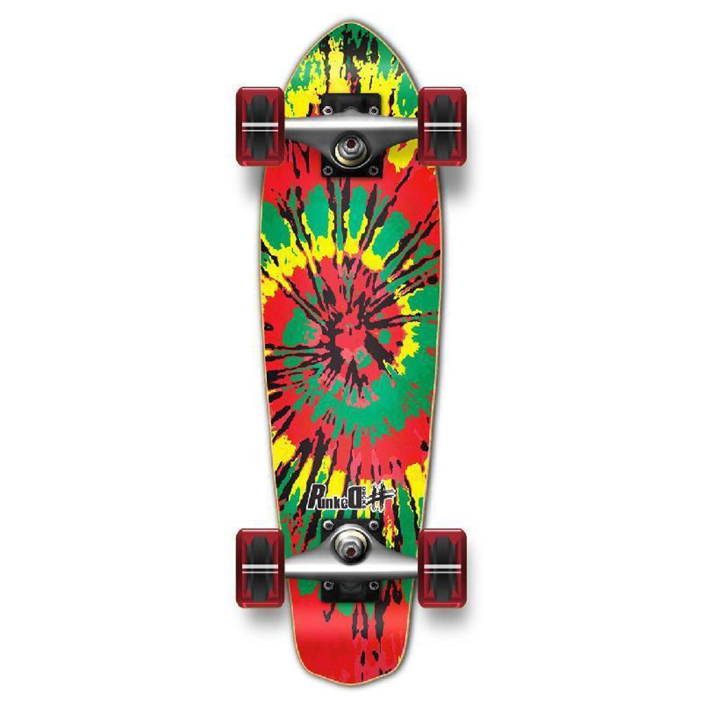 Punked Micro Cruiser Complete - Tiedye Rasta - Longboards USA