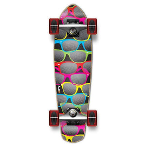 Punked Micro Cruiser Shades Black Complete - Longboards USA