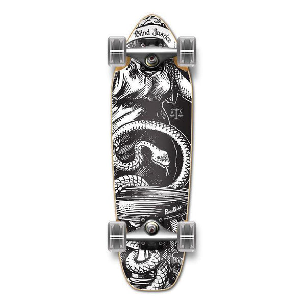 Punked Mini Cruiser Black Blind Justice Complete - Longboards USA