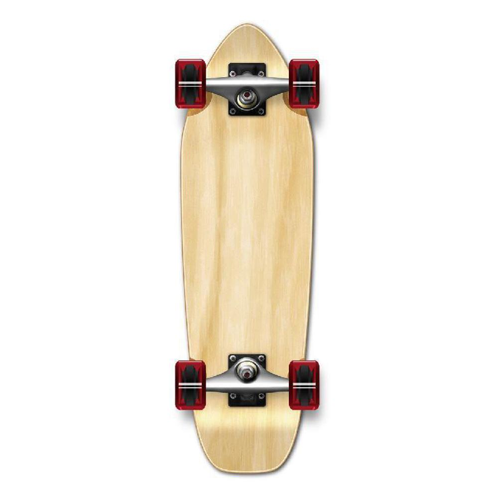 Punked Mini Cruiser Blank Complete - Natural - Longboards USA