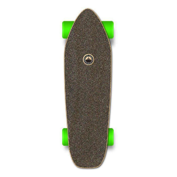 Punked Mini Cruiser Blank Complete - Stained Black - Longboards USA