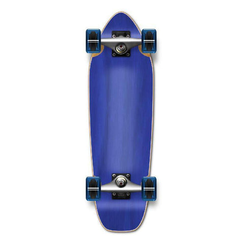 Punked Mini Cruiser Blank Complete - Stained Blue - Longboards USA