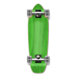Punked Mini Cruiser Blank Complete - Stained Green - Longboards USA