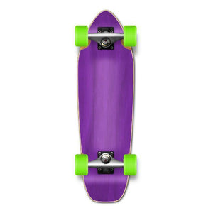Punked Mini Cruiser Blank Complete - Stained Purple - Longboards USA