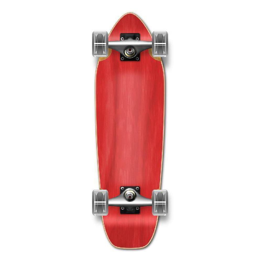 Punked Mini Cruiser Blank Complete - Stained Red - Longboards USA