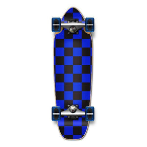 Punked Mini Cruiser Complete - Checker Blue - Longboards USA