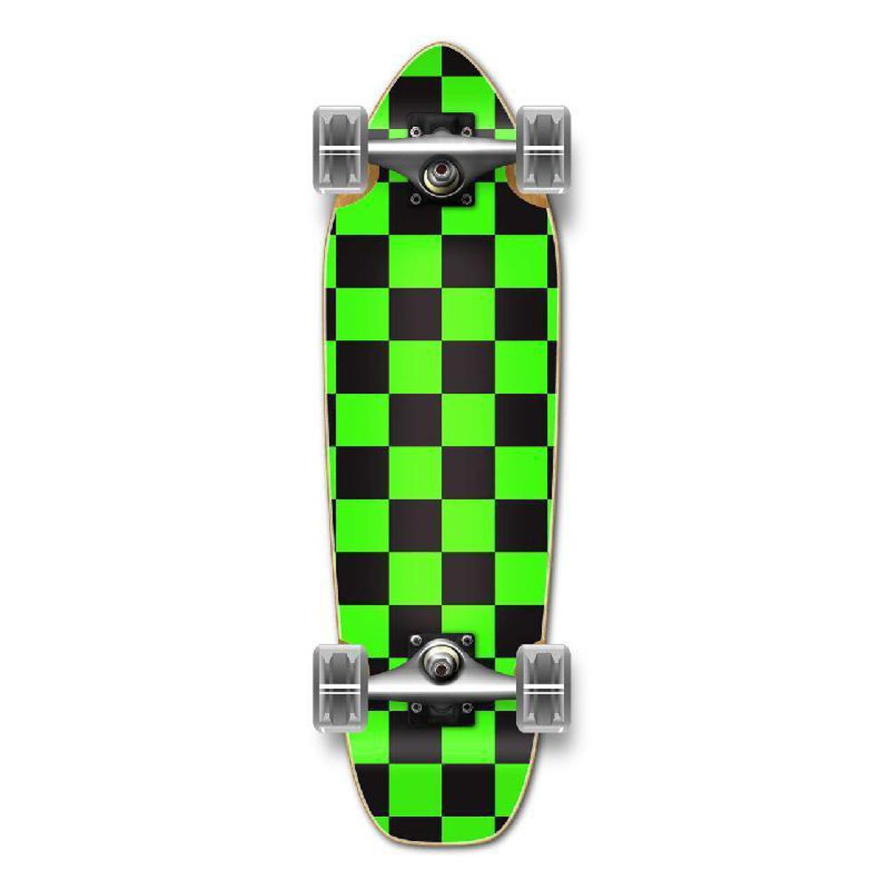 Punked Mini Cruiser Complete - Checker Green - Longboards USA
