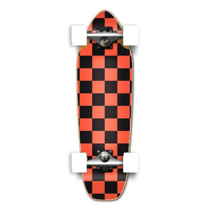 Punked Mini Cruiser Complete - Checker Orange - Longboards USA