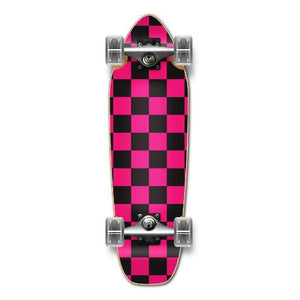 Punked Mini Cruiser Complete - Checker Pink - Longboards USA