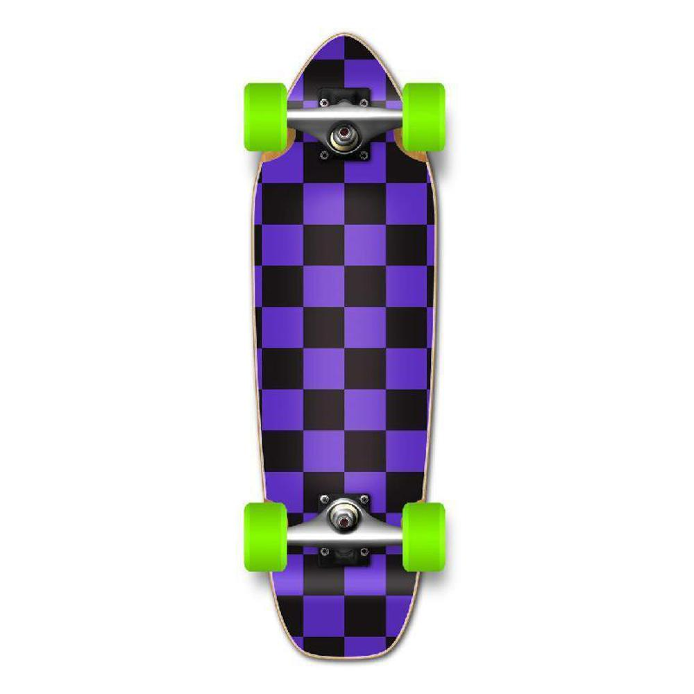 Punked Mini Cruiser Complete - Checker Purple - Longboards USA