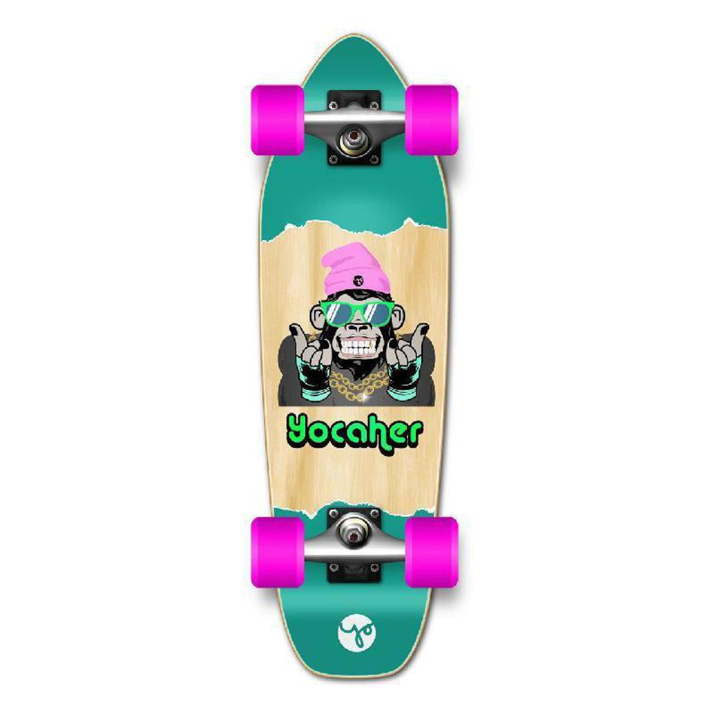 Punked Mini Cruiser Complete - Chimp Series - See No Evil - Longboards USA
