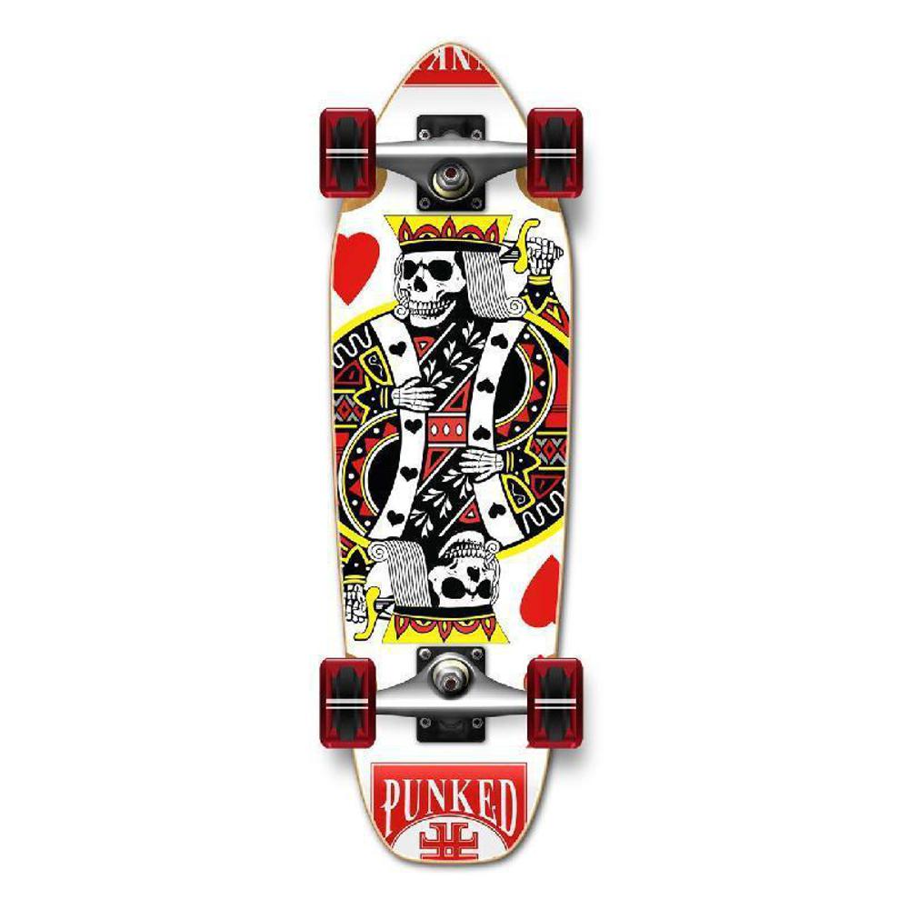 Punked Mini Cruiser Complete - King of Hearts - Longboards USA