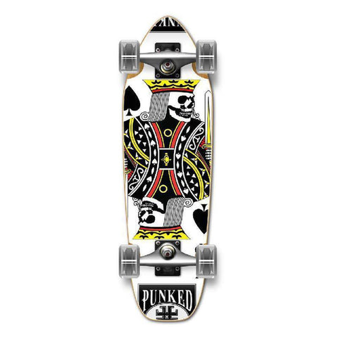 Punked Mini Cruiser Complete - King of Spades - Longboards USA