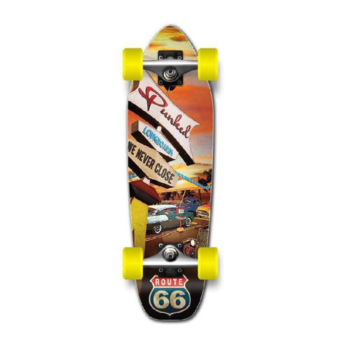 Punked Mini Cruiser Complete - Route 66 Series - Diner - Longboards USA