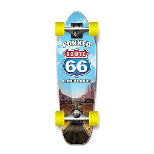 Punked Mini Cruiser Complete - Route 66 Series - The Run - Longboards USA