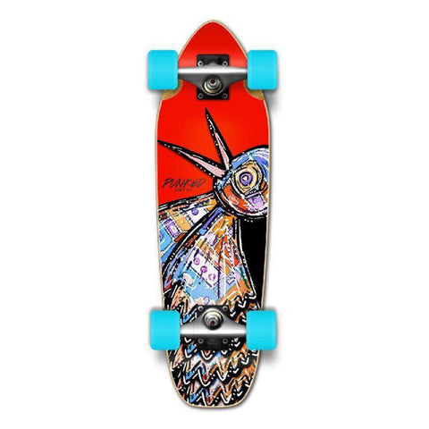 Punked Mini Cruiser Complete - The Bird Red - Longboards USA