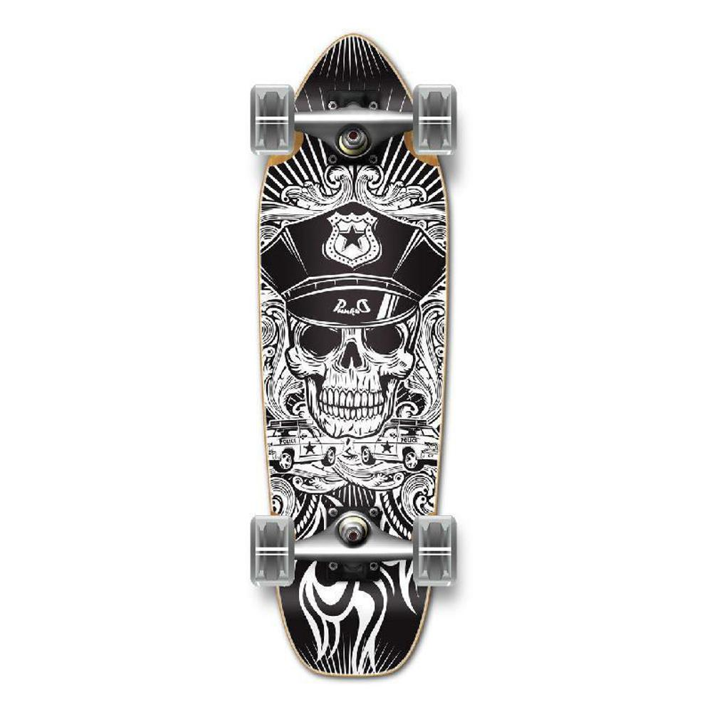 Punked Mini Cruiser Skull Cop Complete - Longboards USA