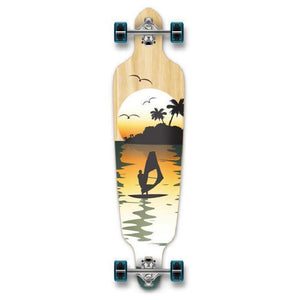 "Punked Natural Surfer Drop Through 40"" Longboard - Longboards USA"
