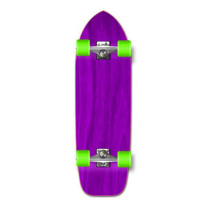 Punked Old School Blank Longboard Complete - Stained Purple - Longboards USA