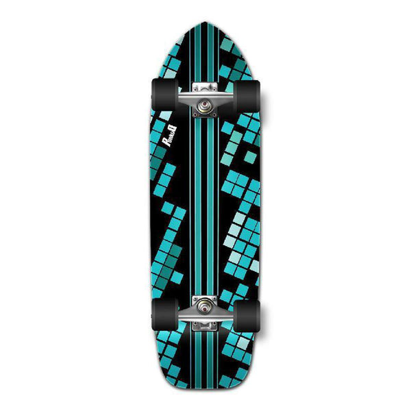 Punked Old School Longboard Complete - Black Digital Wave - Longboards USA