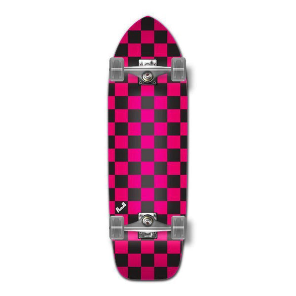 Punked Old School Longboard Complete - Checker Pink - Longboards USA