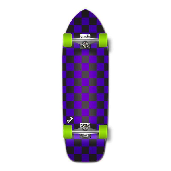 Punked Old School Longboard Complete - Checker Purple - Longboards USA