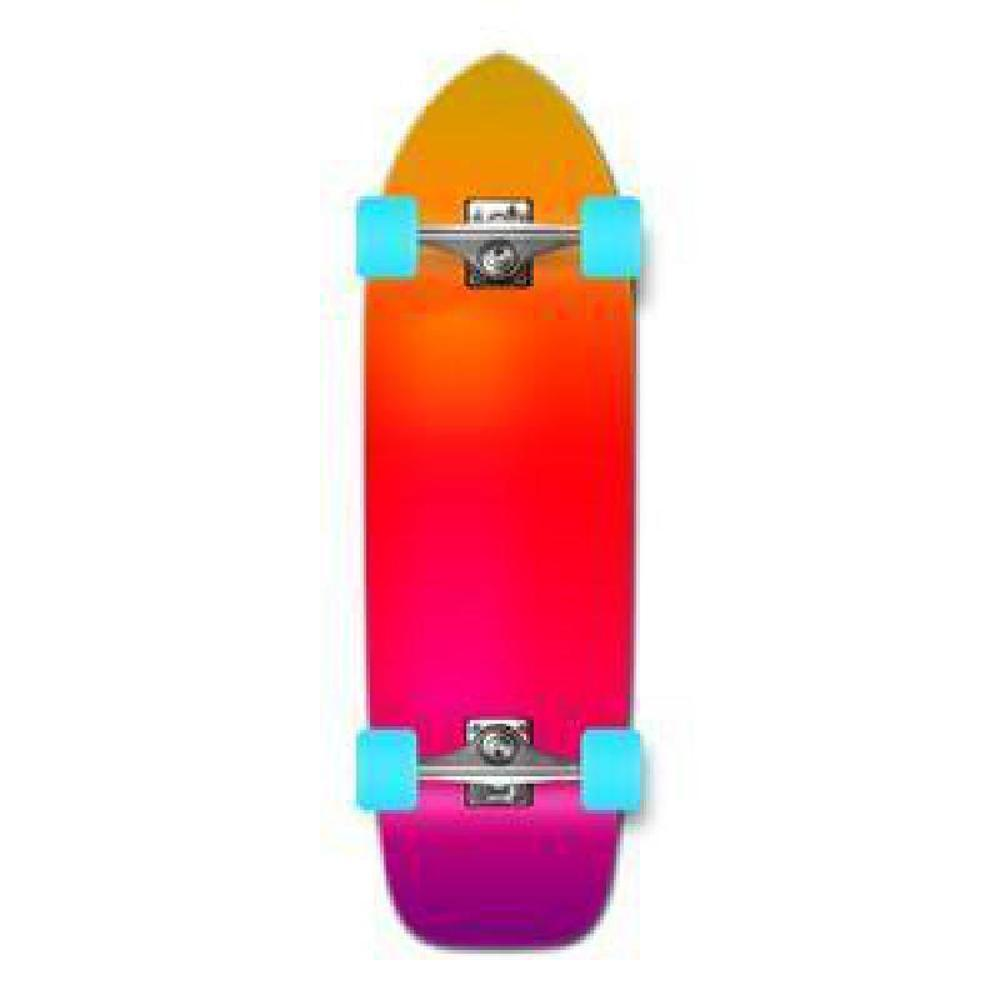 Punked Old School Longboard Complete - Gradient Pink - Longboards USA