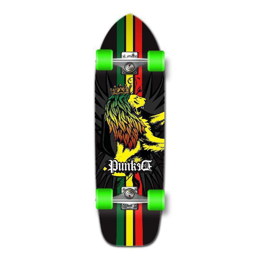 Punked Old School Longboard Complete - Rasta - Longboards USA