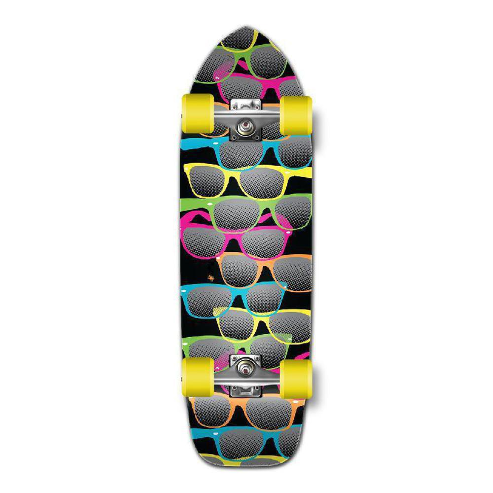Punked Old School Longboard Complete - Shades Black - Longboards USA
