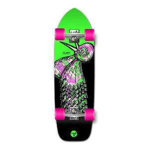 Punked Old School Longboard Complete - The Bird Series Green - Longboards USA