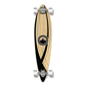 "Punked Onyx Pintail 40"" Longboard - Longboards USA"
