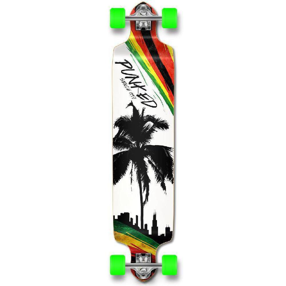 Punked Palm City Rasta Drop Down Longboard - Longboards USA