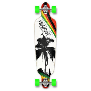 Punked Palm City Rasta Drop Through Longboard - Longboards USA