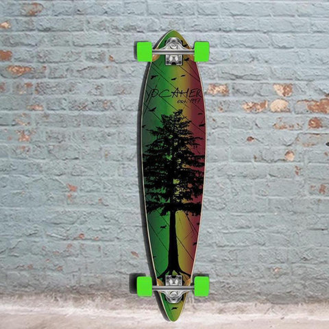 Punked Pintail In The Pines Rasta 40 inches Longboard - Longboards USA