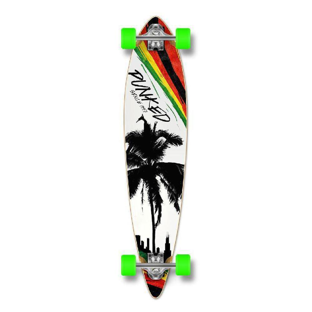 Punked Pintail Longboard Complete - Palm City Rasta - Longboards USA