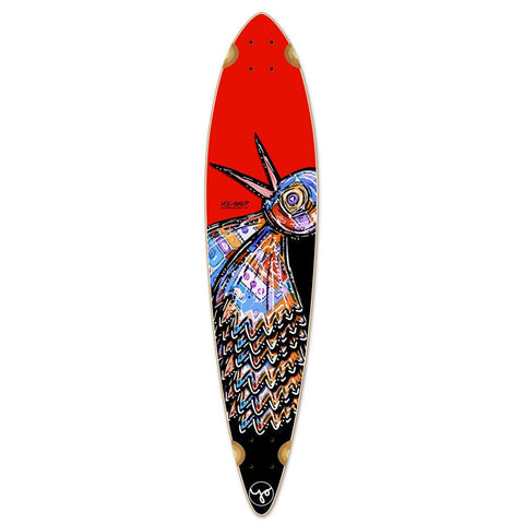 Punked Pintail Longboard Deck - The Bird Red - Longboards USA