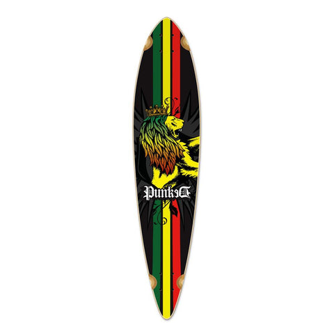 Punked Pintail Rasta Longboard Deck - Longboards USA
