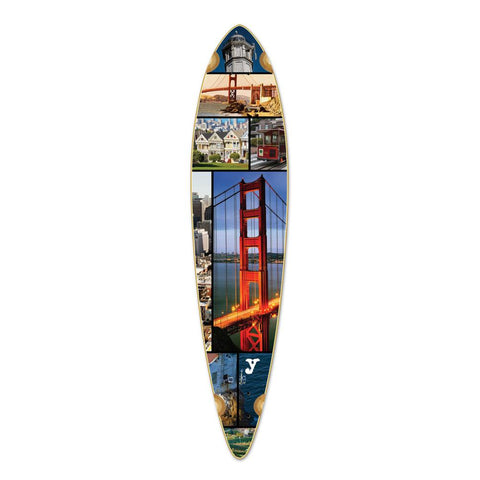 Punked Pintail San Francisco Longboard Deck - Longboards USA