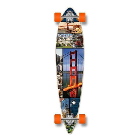 "Punked Pintail San Franciso 40"" Longboard - Longboards USA"