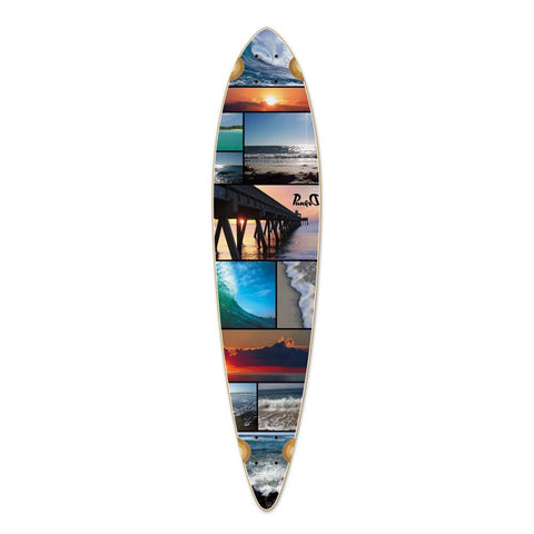 Punked Pintail Seaside Longboard Deck - Longboards USA