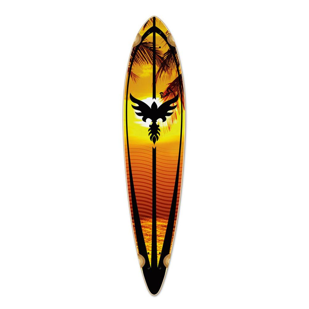Punked Pintail Sunset Longboard Deck - Longboards USA