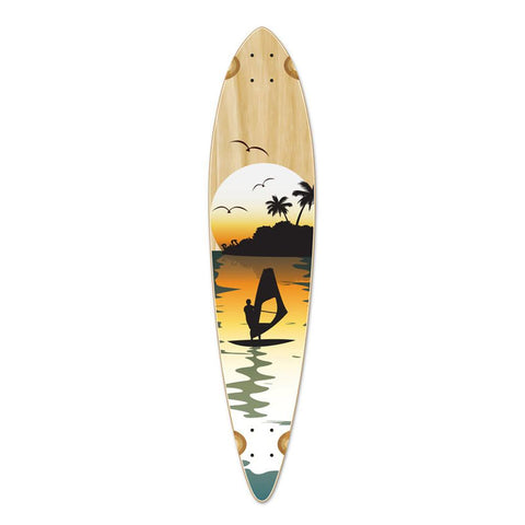 Punked Pintail Surfer Natural Longboard Deck - Longboards USA