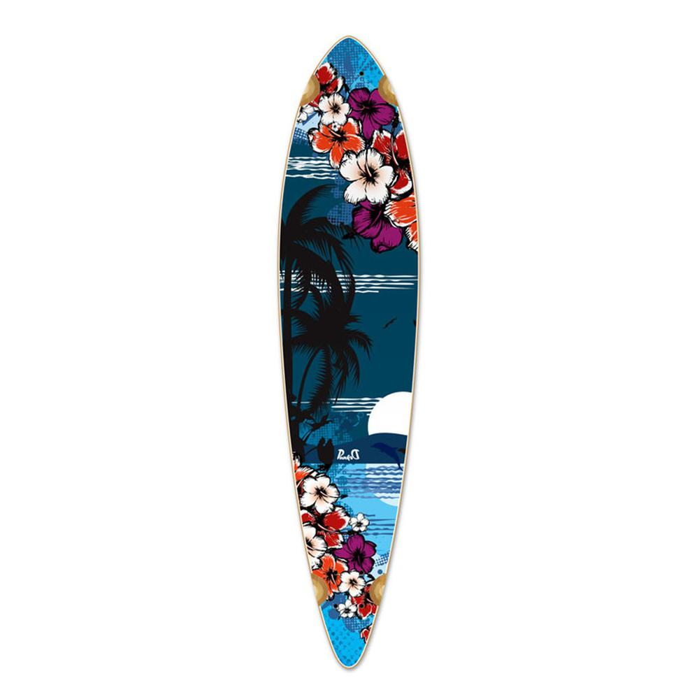 Punked Pintail Tropical Night Longboard Deck - Longboards USA