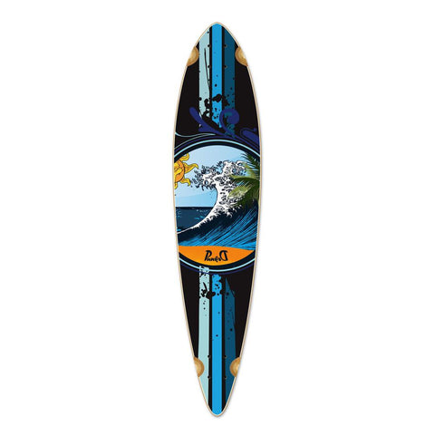 Punked Pintail Wave Longboard Deck - Longboards USA